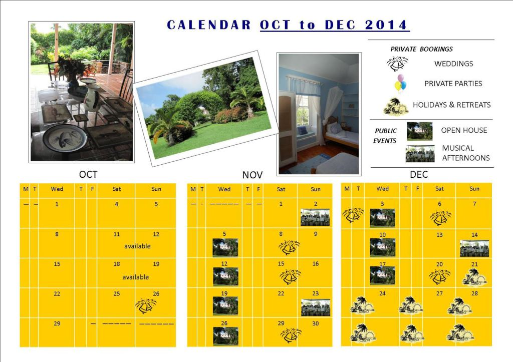 Golden Grove Calendar